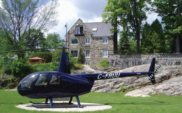 Le ciel à votre porte : un héliport privé