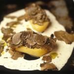 Pomme de terre aux truffes tuber melanosporum