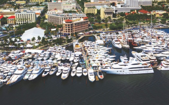 Des yachts encore plus imposants au Salon Nautique 2017 de Palm Beach, en Floride