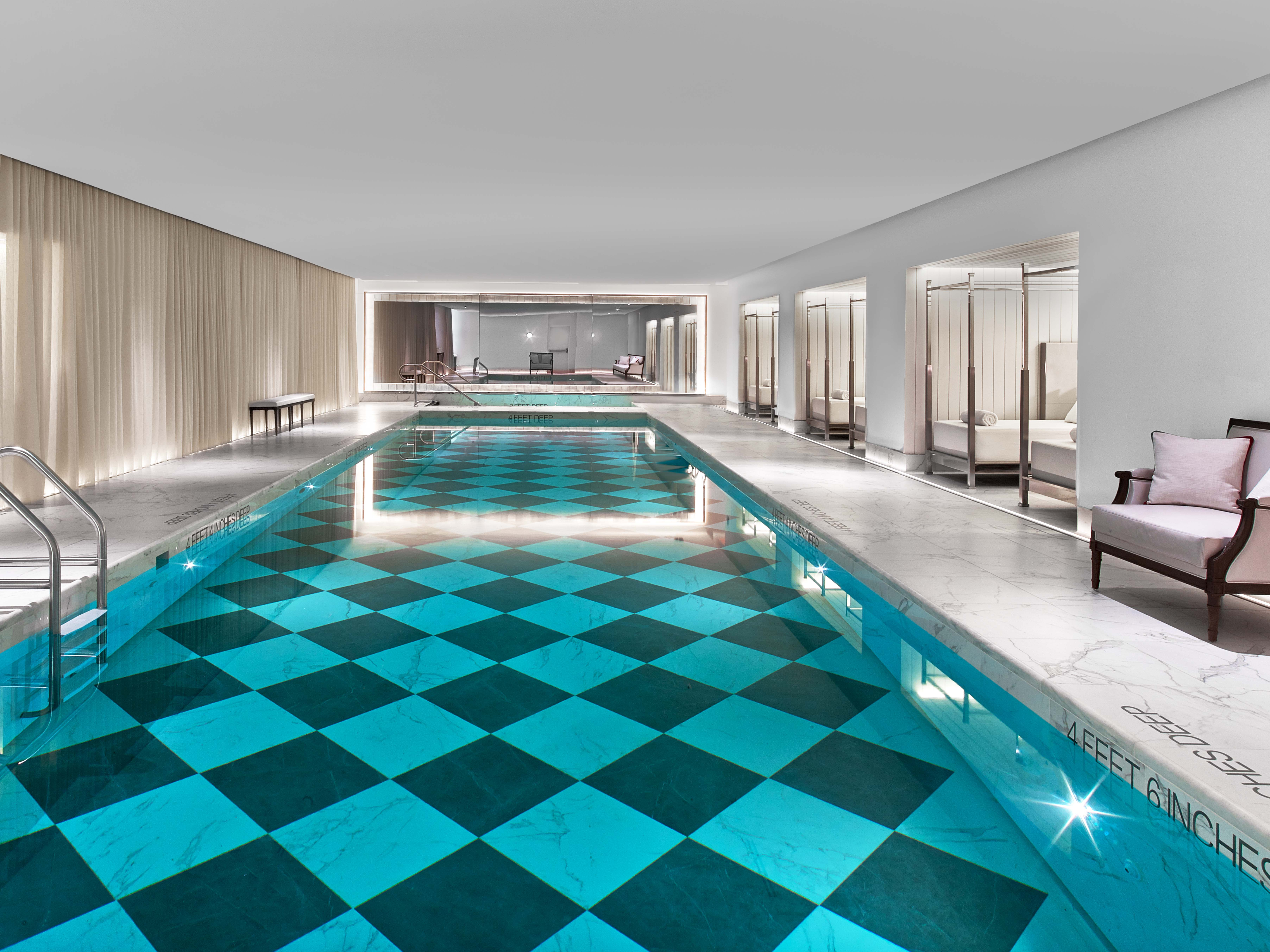 9.Baccarat Hotel NYC Pool